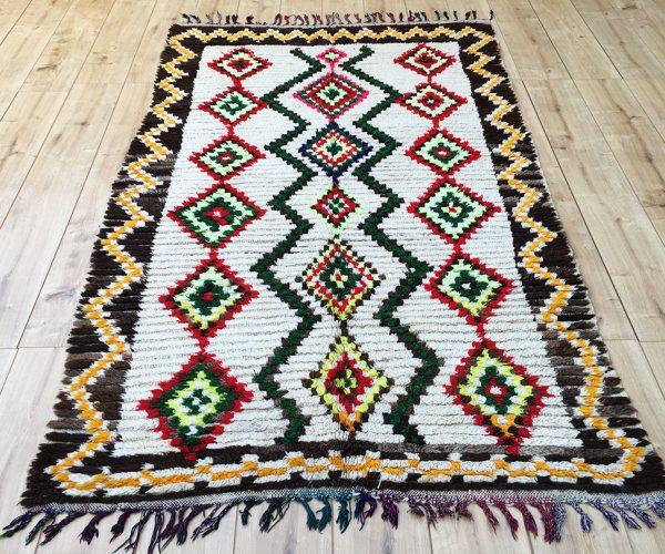 Moroccan rug-moroccan Berber Rug-azilal-tribal rug-designer rug-Vintage Moroccan Rug-ourika