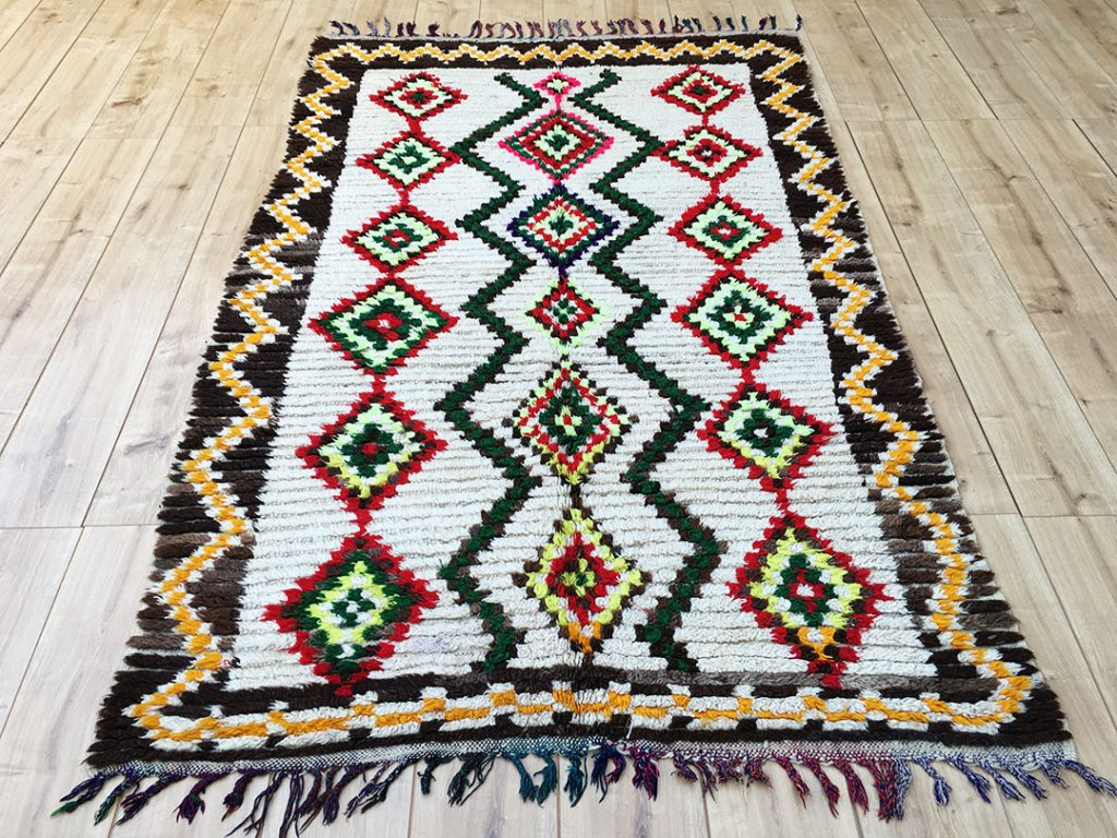 Rare Vintage Moroccan Rug Ourika 235x140cm A 026 East