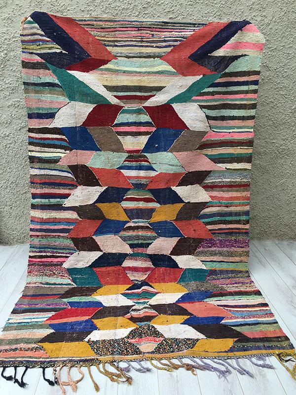 Vintage Kilim Moroccan Berber Rug Tapis Berbere 260 X 165