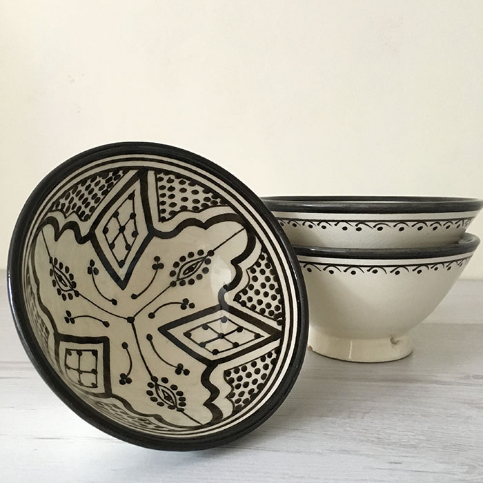 moroccan bowl & East Unique | Moroccan Soup Bowl \u2013 cream-black