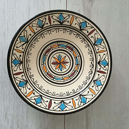 Moroccan Side Plate u2013 Cream-Colour & East Unique | Product categories moroccan pottery