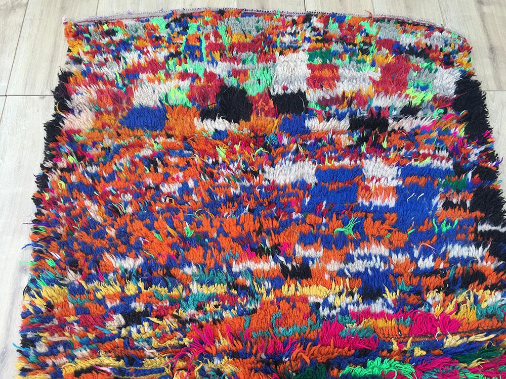 east unique vintage moroccan rug tapis berbere azilal 185x107cm a 048. Black Bedroom Furniture Sets. Home Design Ideas