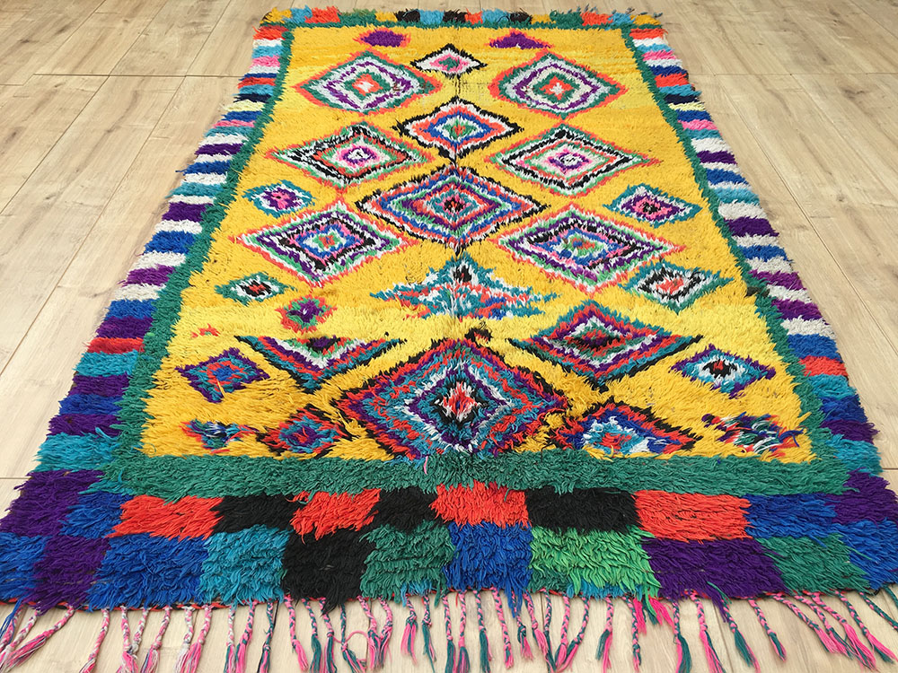 Vintage Moroccan Rug Tapis Berbere Azilal 190x111cm A