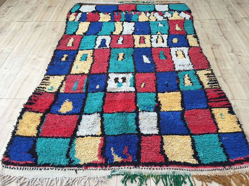 Vintage Moroccan Rug Tapis Berbere Azilal 240x147cm A