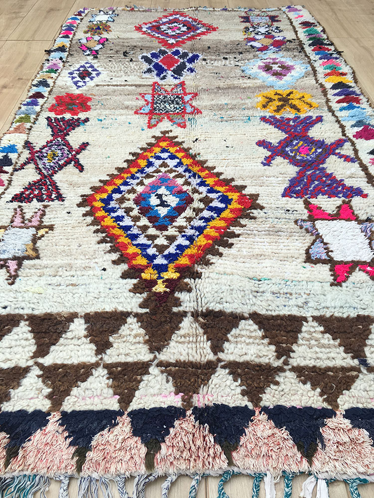 Vintage Moroccan Rug Tapis Berbere Azilal 208x111cm A