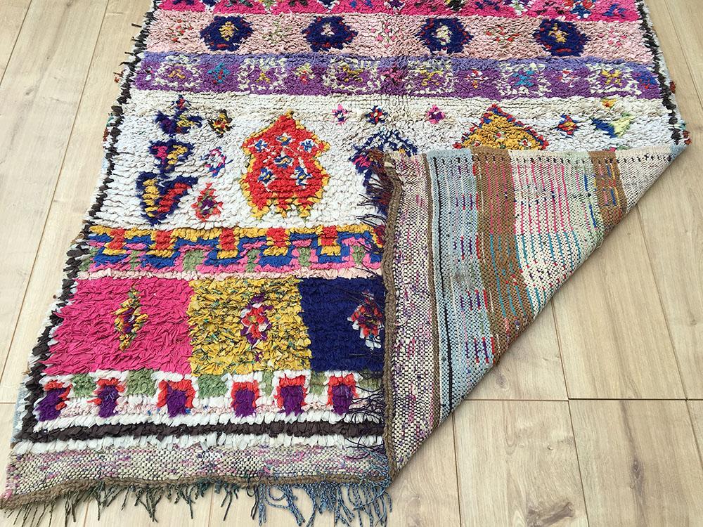 Vintage Moroccan Rug Tapis Berbere Boucherouite 158x121cm