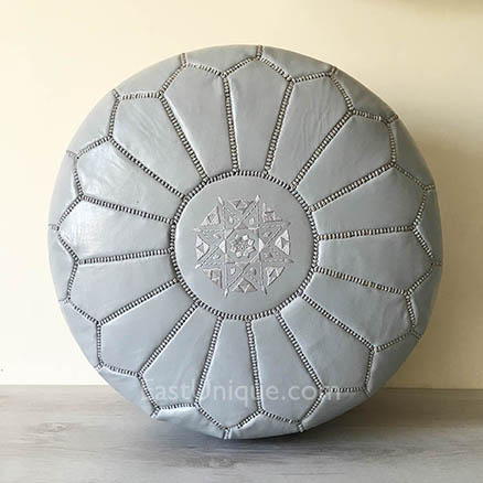 moroccan-leather-pouffe-east-unique-grey-ottoman-footstool-11